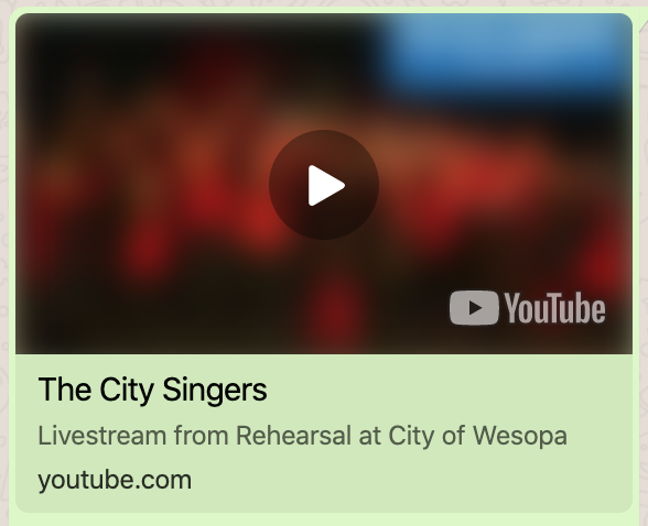 The City Singers – LIVE